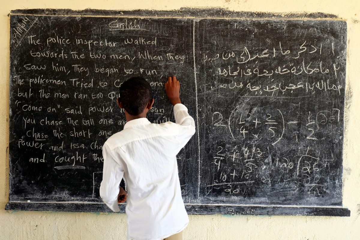 A student at the blackboard in Somaliland, Somalia. Credit: UNICEF/Hana Yoshimoto