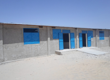 The newly built school in Koussiri village welcomes 192 students, most of whom are displaced children.
