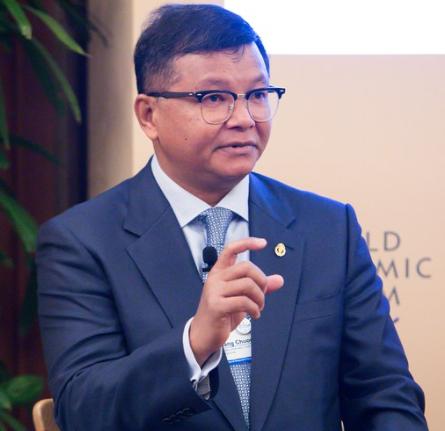 Dr Hang Chuon Naron, Minister of Education of Cambodia. Credit: WEForum / Sikarin Fon Thanachaiary