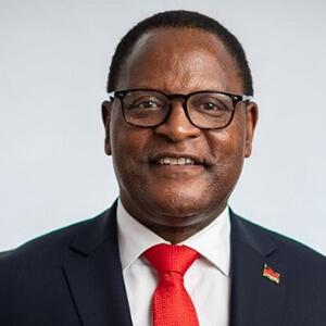 S.E. Dr. Lazarus Mc Carthy Chakwera, Président de la République du Malawi