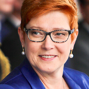 Hon. Marise Payne, Ministre des Affaires étrangères et ministre des Femmes, Australie
