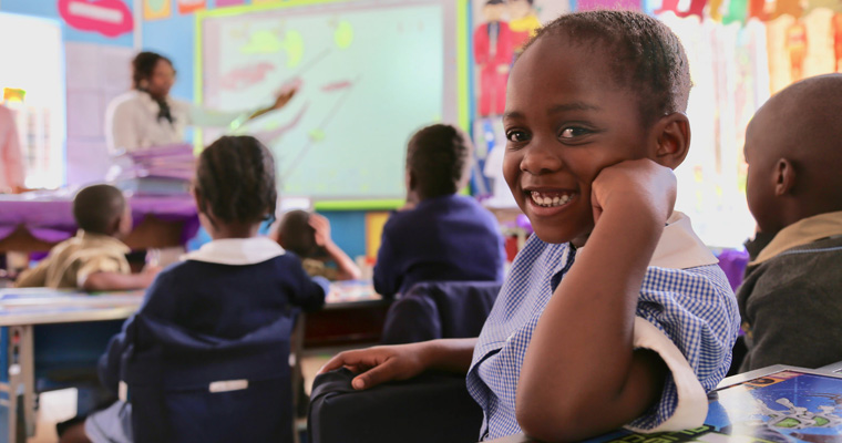 A girl attends a pre-primary school in Zimbabwe. Credit: GPE/ Carine Durand