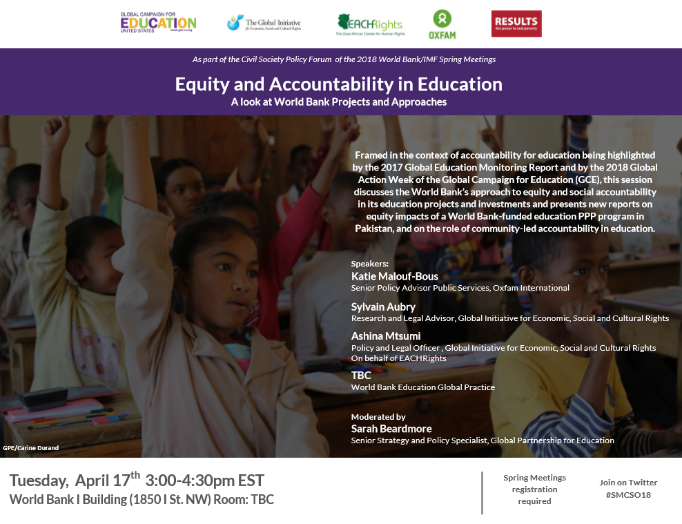 Equity and accountability in education: a look at World Bank projects and approaches