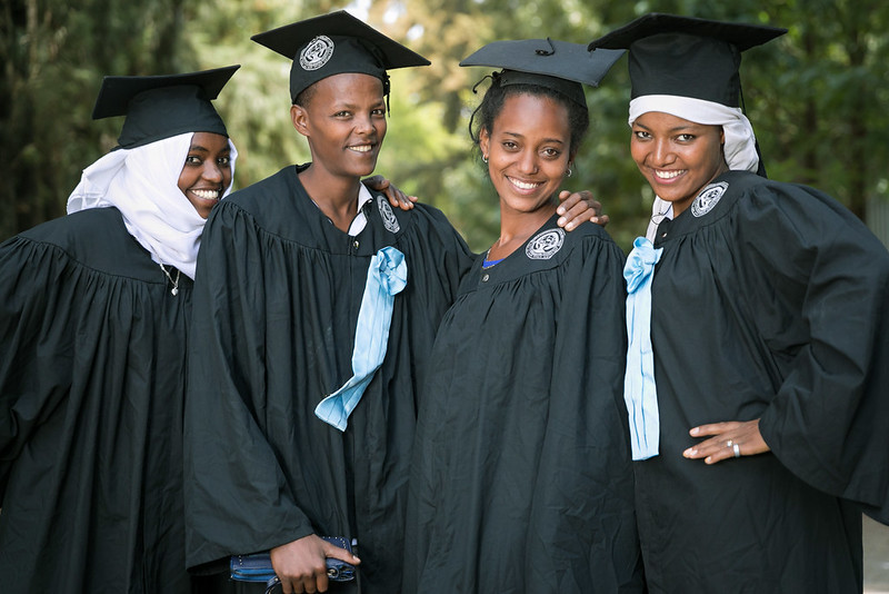Students ready to graduate from Sebeta Special Needs Education Teachers College in Ethiopia. Credit: GPE/Kelley Lynch
