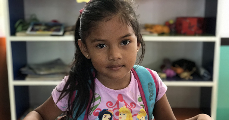 5-year-old Karen attends the Guardabarranco School in Acoyapa, Nicaragua. Credit: GPE/Carolina Valenzuela
