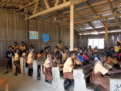 Classroom in the Ampain Primary School located in the Ampain refugee camp in the South West of Ghana near Takoradi. Credit: UNHCR/Caroline Schmidt