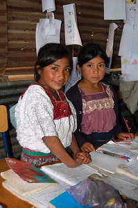 Un projet d'éducation rurale au Guatemala. Crédit : Change for Children