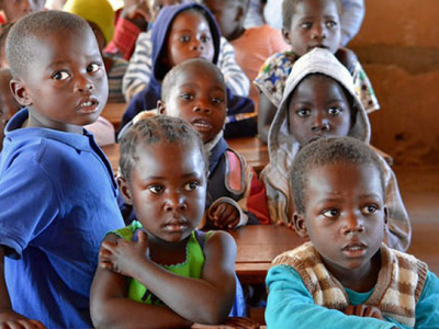 Students at Sanjogo primary school in Zambia. CREDIT: GPE/Carine Durand