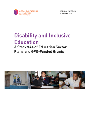 Disability and inclusive education: a stocktake of education sector plans and GPE-funded grants