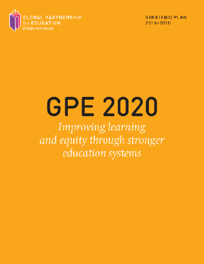 GPE 2020 and the gender equality policy and strategy