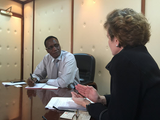 Alice Albright and Professor Jacob Kaimenyi in Nairobi Kenya