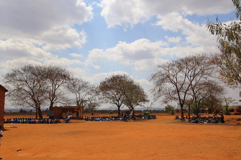 Outdoor classrooms at Muzu primary school in Malawi.Credit: GPE/Chantal Rigaud