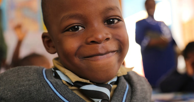 A boy attends Avondale Infant School in Zimbabwe. Credit: GPE/Carine Durand