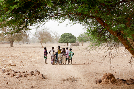 Rihanata and her peers going to school. Photo: Urlich Eigner/Light for the World