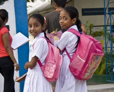 School children in Maldives. Credit: Philippe Guintoli