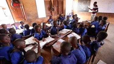 Morning lessons at Pong Tamale Experimental Primary School. Ghana. Credit: GPE/Stephan Bachenheimer