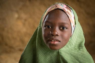 Mariam Isah is 8 years old and is in the second grade. Tsamiya Goma Village, Jigawa State, Nigeria. Credit: GPE/Kelley Lynch
