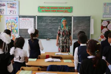 School children in a classroom in Tajikistan. Credit: GPE/Carine Durand