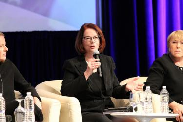Julia Gillard, Board Chair, Global Partnership for Education, explains why investing in education makes economic sense. Credit: GPE/Chantal Rigaud
