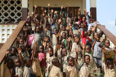 Children at So-Ava primary school near Cotonou, Benin. Credit: GPE /Chantal Rigaud