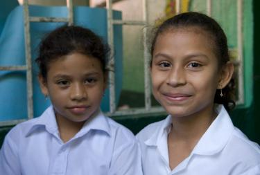 Two girls from a primary school in Nicaragua. Credit: World Bank/Arne Hoel