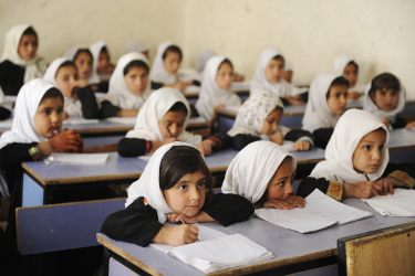 Girls at Ayno Meena Number Two school in Kandahar, Afghanistan. Credit: GPE/Jawad Jalali