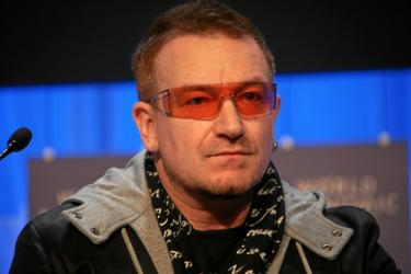 Bono at World Economic Forum Annual Meeting 2008 in Davos, Switzerland. Credit: Wikimedia Commons
