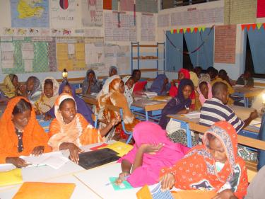 Children during class in Djibouti. Credit: Pierre Alain