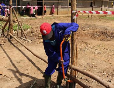 Construction of new classrooms supported by GPE in Uganda. Credit: GPE/Livia Barton