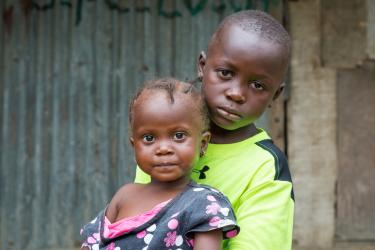 Joseph and his sister, Montserrado County, Liberia. Credit: GPE/ Kelley Lynch