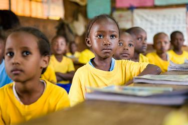 Students at Nyamachaki Primary School, Kenya. Credit: GPE/Kelley Lynch