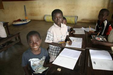 School children in Guinea Bissau. Credit: ora international