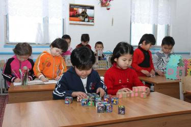 Kindergartens in Aral Sea region. Credit: UNDP
