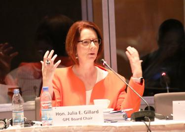 Julia Gillard, GPE Board Chair, at the December 2015 Board Meeting in Dakar, Senegal (c) GPE/Chantal Rigaud