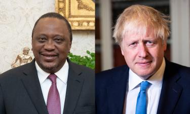 Uhuru Kenyatta, President of the Republic of Kenya and Boris Johnson, Prime Minister of the United Kindgdom