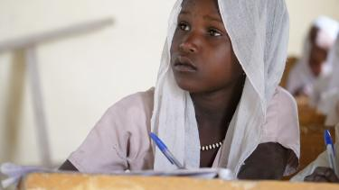 A student at Al-Bahouaira Primary School in Lake Chad. Credit: GPE/Carine Durand