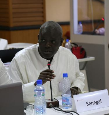 Djibril Ndiaye Diouf during the meeting in Benin of focal points from all GPE partner countries. December 2018. Credit: GPE/Chantal Rigaud
