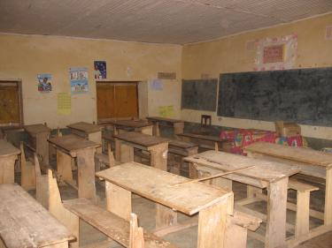 An empty classroom - Madagascar. Credit: GPE/Alberto Begue