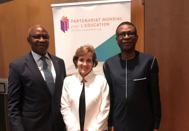 Serigne Mbaye Thiam, Alice Albright and Youssou Ndour in Dakar. Credit: GPE/Sinead Andersen