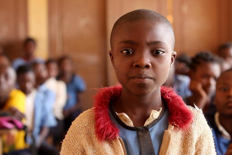 A student of a primary school in Cameroon. Credit: GPE/Stephan Bachenheimer