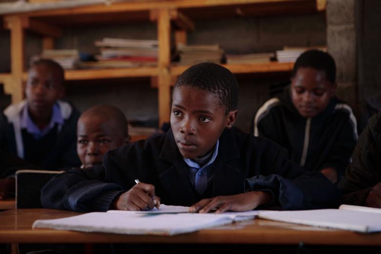 Students of the Standard 7 class during a lesson at the Maseru Qoaling School. Credit: World Bank/ John Hogg