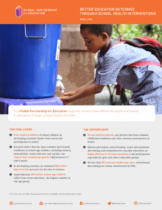 Better education outcomes through school health interventions [factsheet]