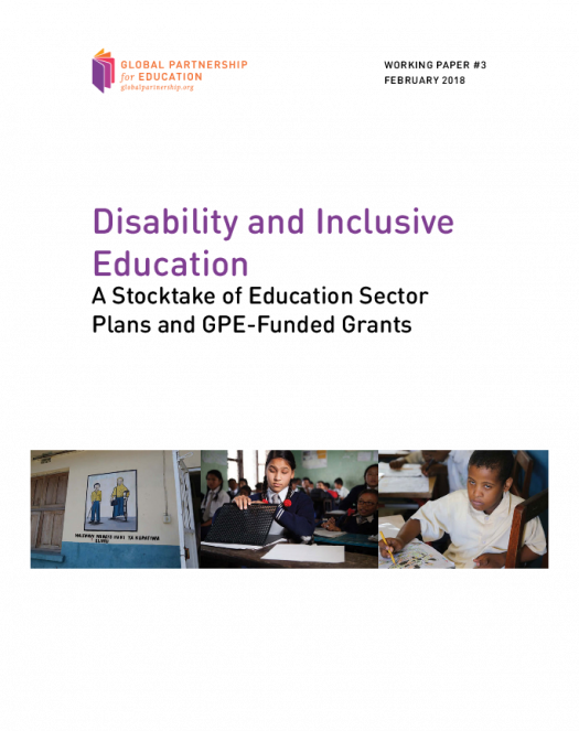 Disability and inclusive education - A stocktake of education sector plans and GPE-funded grants