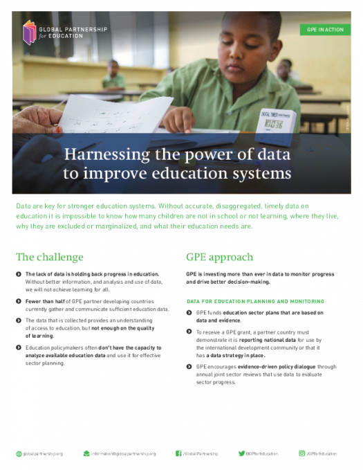Factsheet: Harnessing the power of data to improve education systems