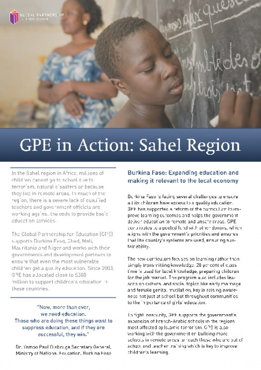 GPE in action in the Sahel region. June 2019