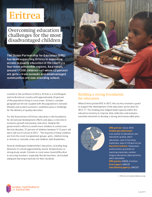 Eritrea: Overcoming education challenges for the most disadvantaged children