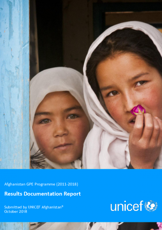 2018 grant completion report. Afghanistan