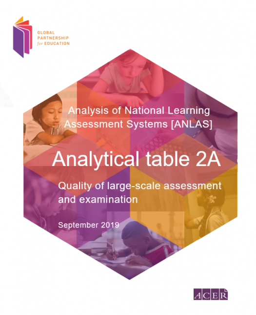 Analytical table 2A: Quality of large-scale assessment and examination