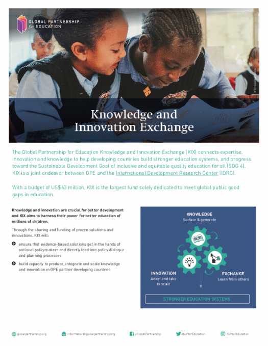 Factsheet: Knowledge and Innovation Exchange