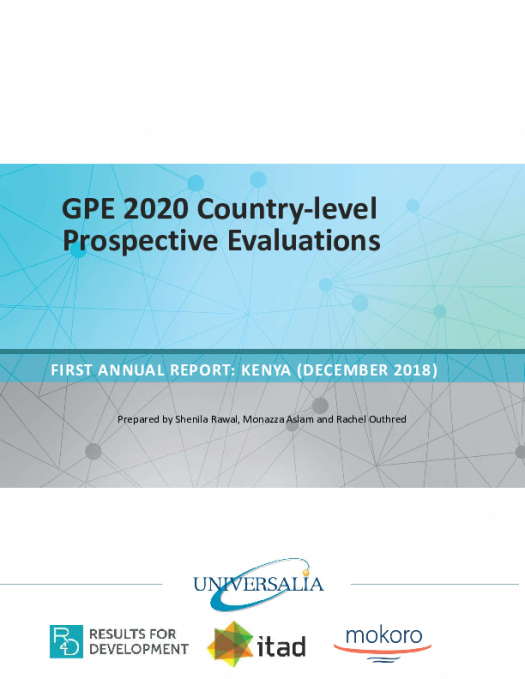 GPE 2020 country level prospective evaluations Kenya PDF